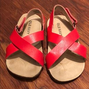 Old Navy red sandals 18-24 months